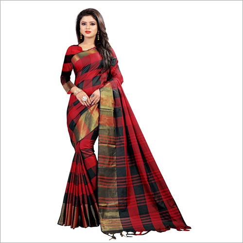Ladies Block Printed Saree