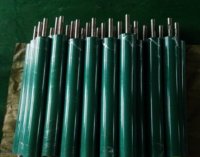 Driving conveying rubber roller