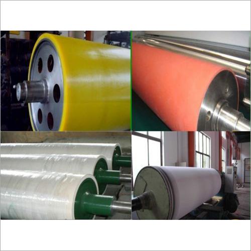Heavy duty rubber roller
