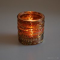 Bangle Mosaic Glass Candle Holder