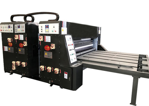 Semi-Auto Water-Ink Carrugated Paperboard Printing Slotting Die-Cutting Machine For Carton Box