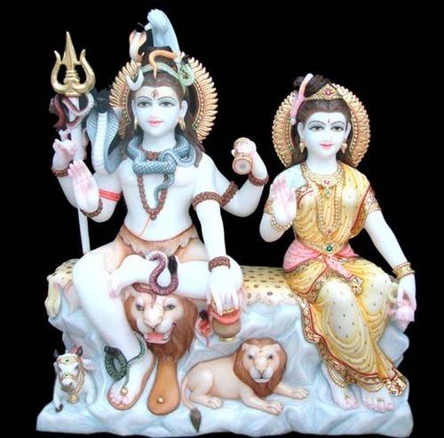 Marble Shiv Parvatai Moorti