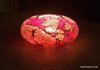 Red Creak Mosaic Candle Holder