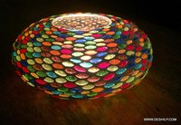 MULTI MOSAIC CANDLE HOLDER