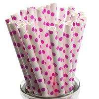 Polka Dots Paper Straws