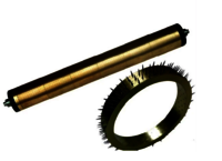 Punch pin roller/needle brush