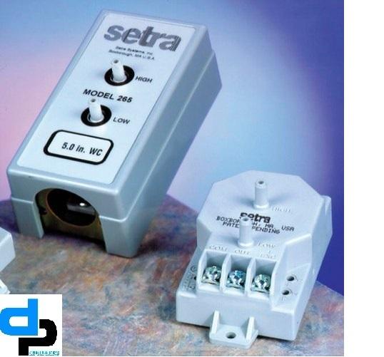 Setra Model 265 Differential Pressure Transducer Range 0- 0.5 Inch