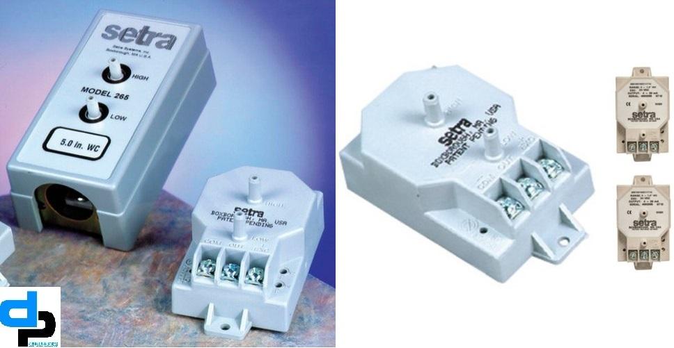 Setra Model 265 Differential Pressure Transducer Range 0- 25 Pac