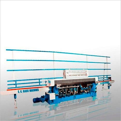 Vertical Straight Line Glass Edging Machine With Cup Wheel