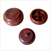 Decorative Handcrafted Wooden Mouth Freshener Box