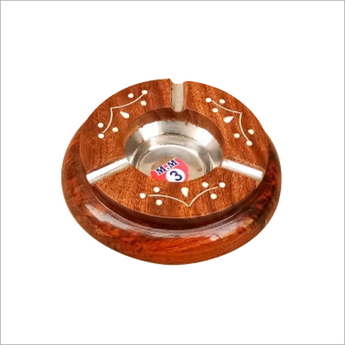 Round  Wooden Ashtray