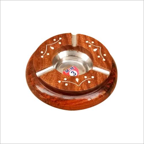 Round  Wooden Ashtray