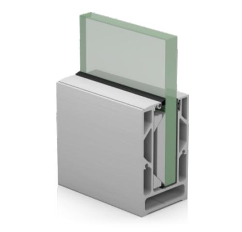 SRS 05 CP Aluminum Modular Glass Railing Channel