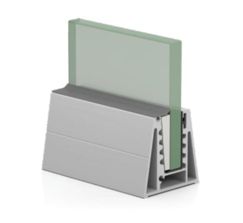 SRS 04 CP Aluminum Modular Glass Railing Channel
