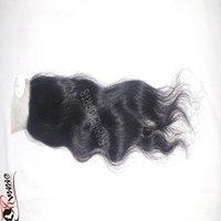 Top Quality Virgin Hair Natural Cheap Closure Wavy Hair