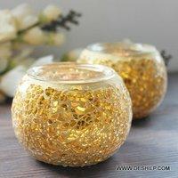 Creak Mosaic Glass Candle Votive