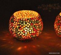 Star Shape Mosaic Candle Holder