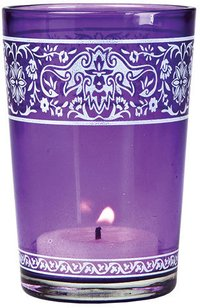 Printed Glass Colorful Candle Holder