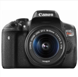 Digital camera  Canon – EOS Rebel T6i DSLR Camera with EF-S 18-55mm IS STM Lens – Black