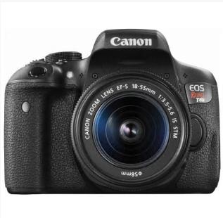 Digital camera  Canon – EOS Rebel T6i DSLR Camera with EF-S 18-55mm IS STM Lens – Black
