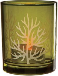 Three Print Glass Candle Holder
