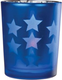 Star Shape Blue Candle Holder