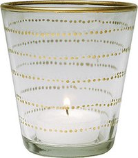 White Glass Candle Holder
