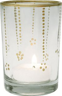 Smaller T Light Candle Holder With Clear Finish