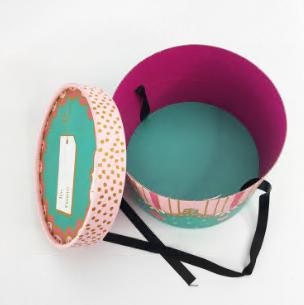 handcraft round gift box for hat or gift storage