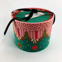 handcraft round gift box for hat or gift storage