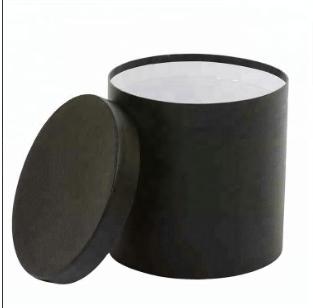Custom order cylinder box black round paper box