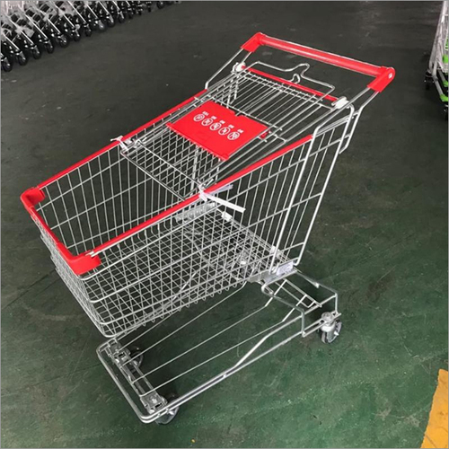 SS Wire Mesh Supermarket Trolley