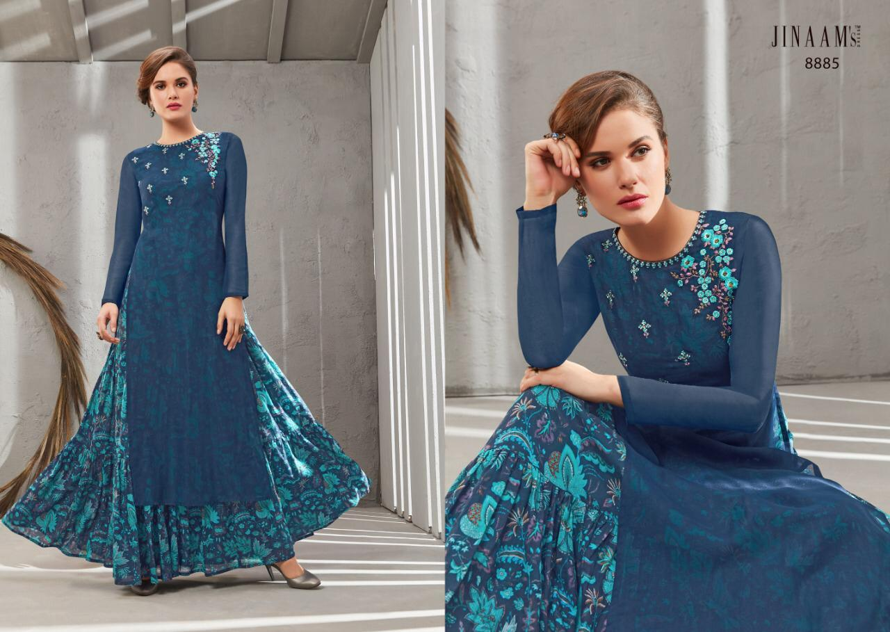 Rayon gowns with embroidery