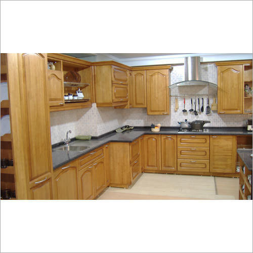 Brown Modular Kitchen