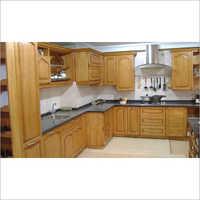 Brown Modular Kitchen