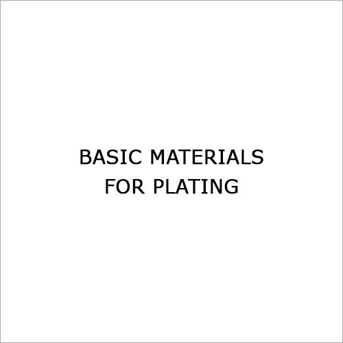 Basic Materials for Plating