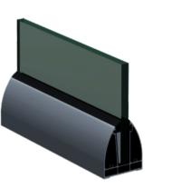 SRS 07 CP Aluminum Modular Glass Railing