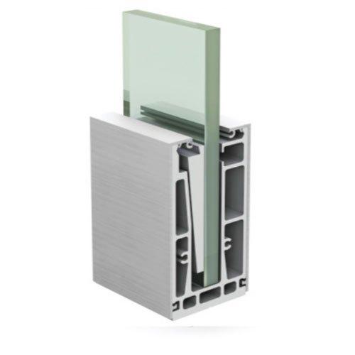 SRS 02 CP Aluminum Modular Glass Railing