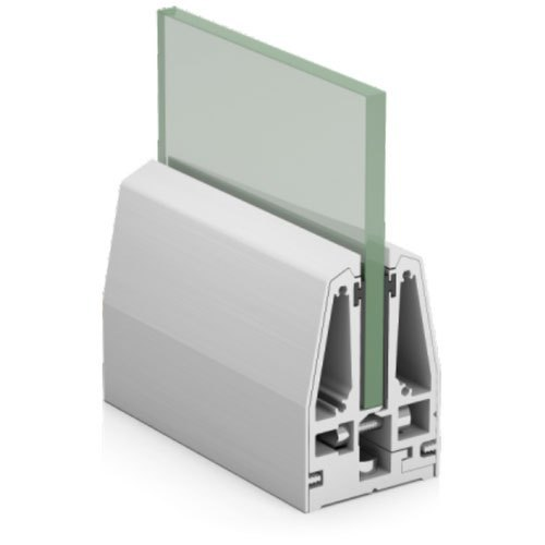 SRS 01 CP Aluminum Modular Glass Railing