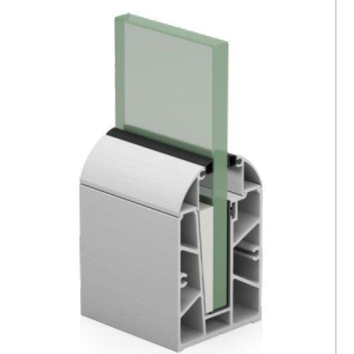 SRS 03 CP Aluminum Modular Glass Railing