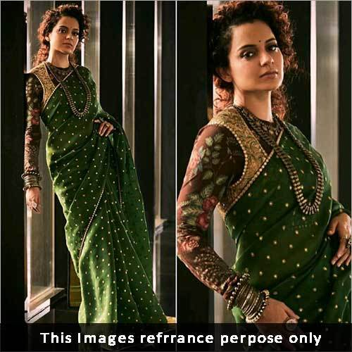 Ladies Faux Georgette Saree