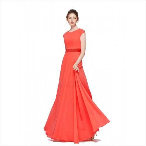 Ladies Designer Georgette Gown