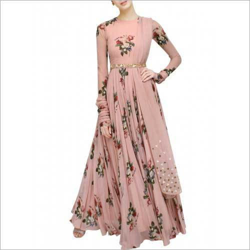 Ladies Floral Printed Gown