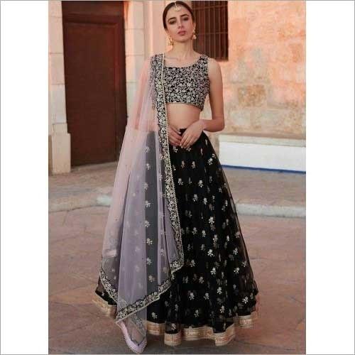 Ladies Designer Printed Embroidery Lengha Choli