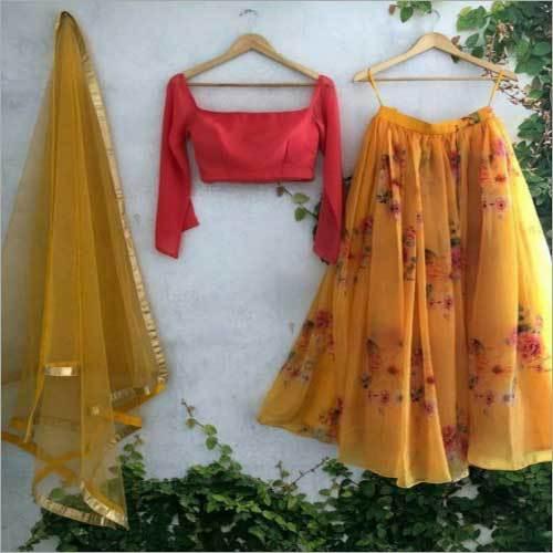 Ladies Printed Party Wear Lehenga