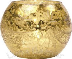 Golden Glass Candle Holder