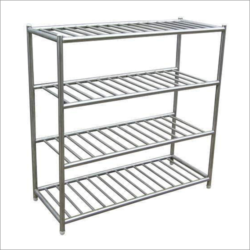 4 Tier SS Storage Rack