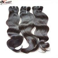 9A Hair Bundles Long Hair Black Remy Human Hair Extension