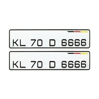 License Plate Aluminium Number Plate For Car Registration Plate