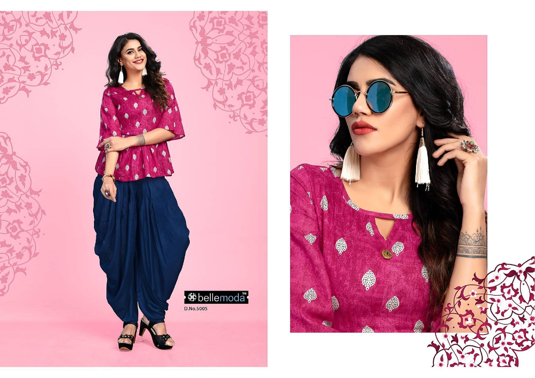 Bellemoa Florence Western Garment Top And Dhotti